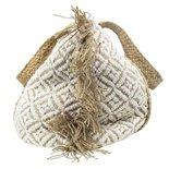 Mars & more - Taschen Jute Baumwolle weiß mit Ausfransen