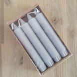 Rustik Lys - Kerze 2,2 x 14 Zm Cool grey set/4