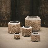 PTMD - Shane cream ceramic round Pot s