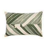 Broste Copenhagen - Cushion cover Arrow Oil green