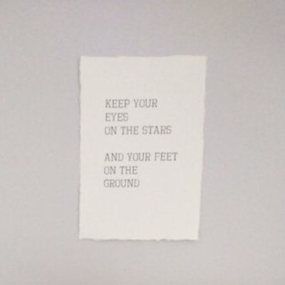 (Op) de Maalzolder - Poster Keep your eyes on the stars