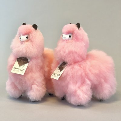 Inkari - Alpaka Stofftiere Cotton candy S Limited edition