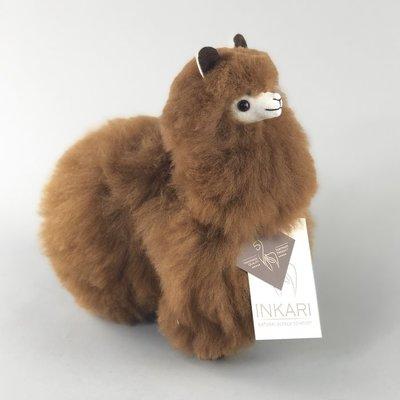Inkari - Alpaka Stofftiere Walnuss S