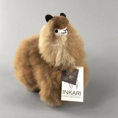 Inkari - Alpaka Stofftiere Karamell S