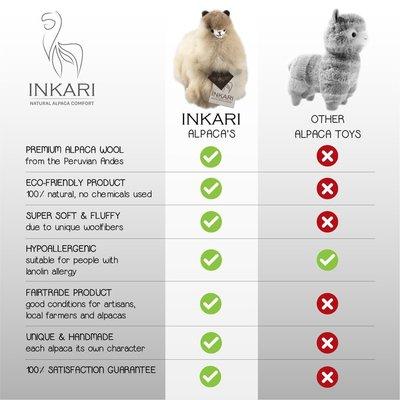 Inkari - Alpaka Stofftiere Elfenbein Blond S