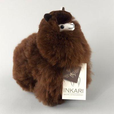 Inkari - Alpaka Stofftiere Schokolade S