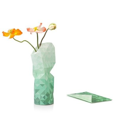 Pepe Heykoop - Paper Vase Cover - Green Gradient