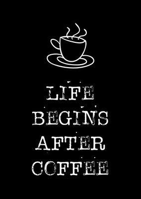 byBean - Kaart Life begins after coffee