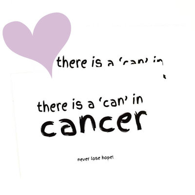 Winkeltje van Anne - Kaart There is a 'can' in cancer