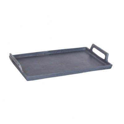 PTMD - Aluminium grey tray straight rectangle s