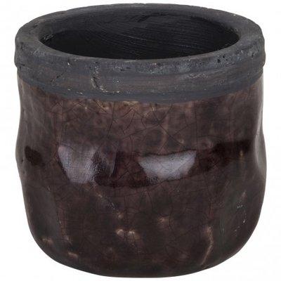 PTMD - Mason paarse ronde pot keramiek xs