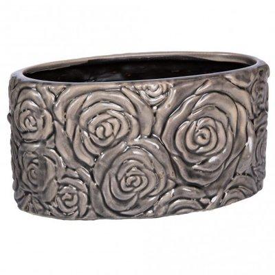 PTMD - Behuh dark grey ceramic Pot oval low m