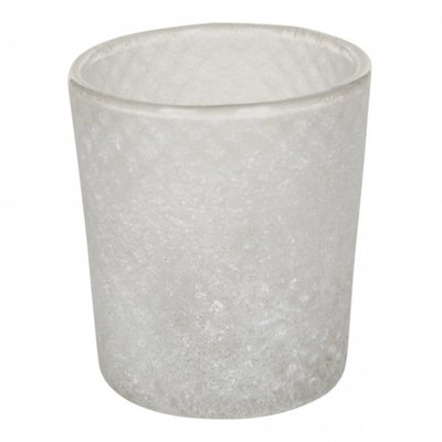 PTMD - Opaca Glass white tealight ribbed s