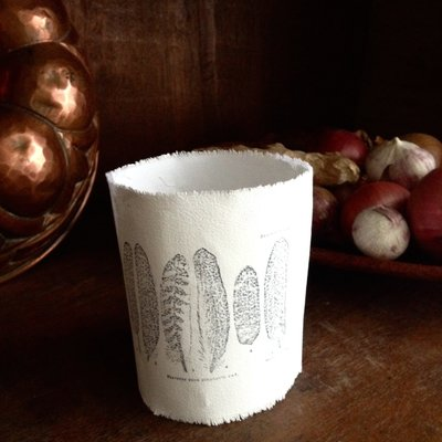 AfroDutchPaperStone - Tealight holder feathers