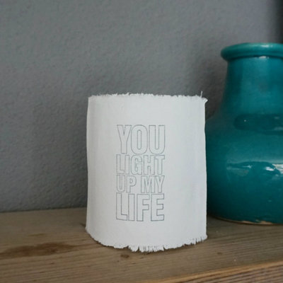 AfroDutchPaperStone - Tealight holder You light up my life