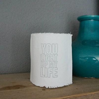 AfroDutchPaperStone - Tealight holder You light up my life