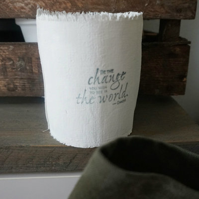 AfroDutchPaperStone - Tealight holder Be the change