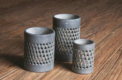 PTMD - Chalk stone braid tealight round m