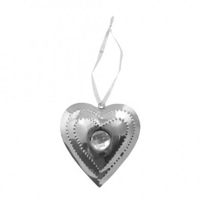PTMD - Aluminium shiney heart diamond s