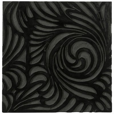 PTMD - Handcraft black wood panel flowers s