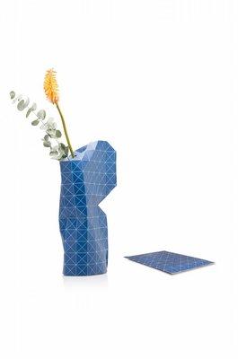 Pepe Heykoop - Paper Vase Cover Large - Grid Blue