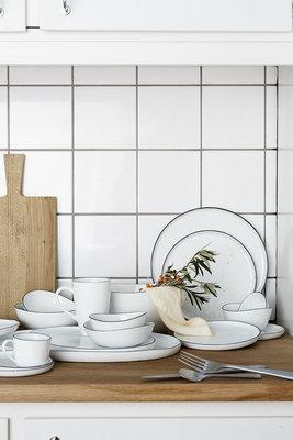Broste Copenhagen - Salt - Tasse und Untertasse Large