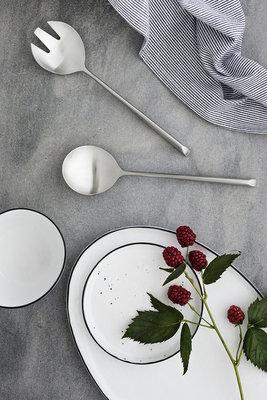 Broste Copenhagen - Salt - Frühstücksteller mit Punkten