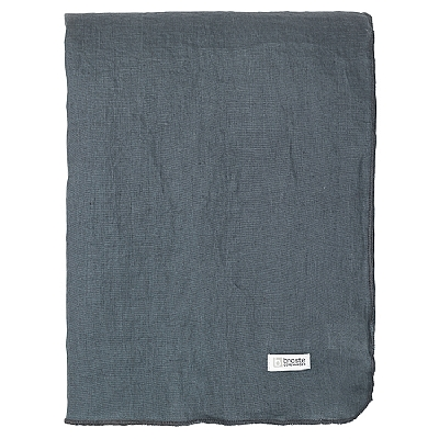 Broste Copenhagen - Table cloth Gracie eco petrol blue