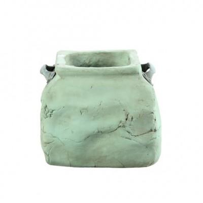 PTMD - Dull green ceramic square Pot l
