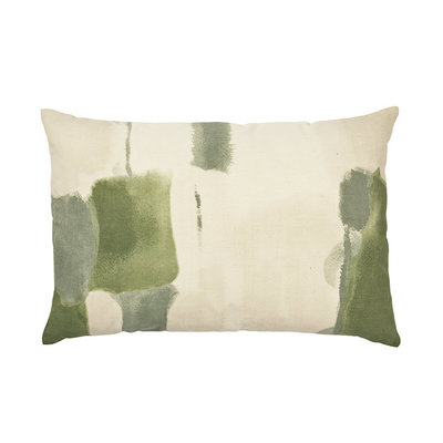 Broste Copenhagen - Cushion cover Water color Oil green