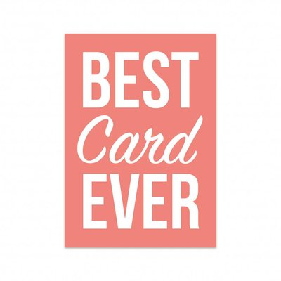 Studio Stationery - Kaart Best card ever