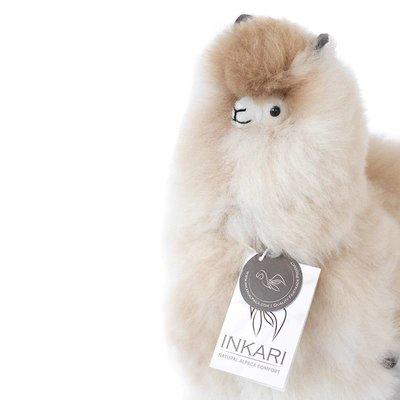 Inkari - Alpaca zachte knuffel Naturel Medium