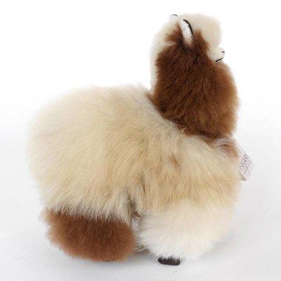 Inkari - Alpaca zachte knuffel Beige / bruin Medium