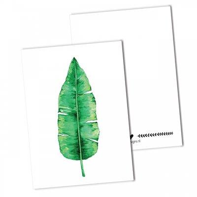 BDdesigns - Karte Bananenblatt