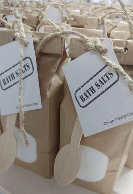 (Op) de Maalzolder - Paperbag Badesalz weiß
