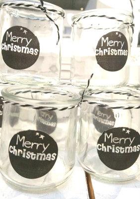 (Op) de Maalzolder - Laterne Merry Christmas schwarz