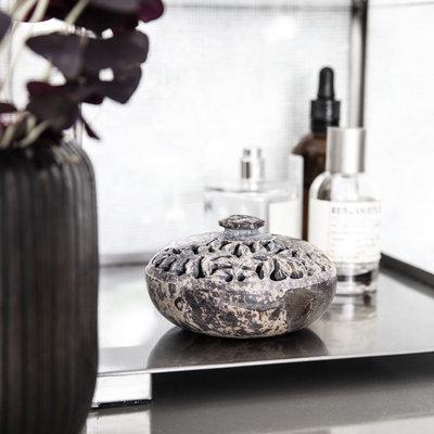 House Doctor - Schale mit Deckel Puri Natur