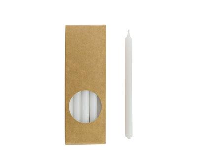 Rustik Lys - Kleine Kerzen Weiß L