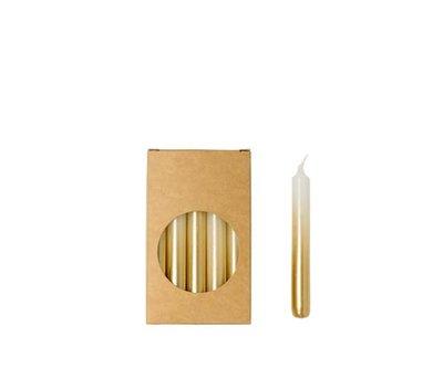 Rustik Lys - Kleine Kerzen Weiß / Gold S