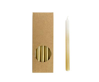 Rustik Lys - Kleine Kerzen Weiß / Gold L