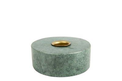 MrsBloom - Kerzenständer Collin Rund Grün Marmor