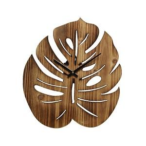 Uhr monstera Holz