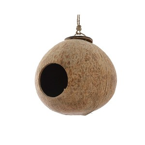 Vogelhäuschen Kokosnuss