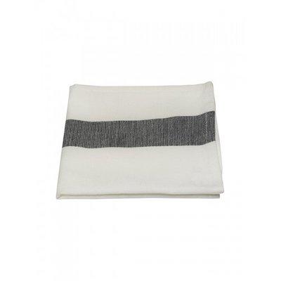 Mijn Stijl - Servet wit / zwarte streep