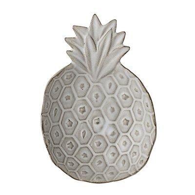 Bloomingville - Terracotta Schale Ananas Weiß