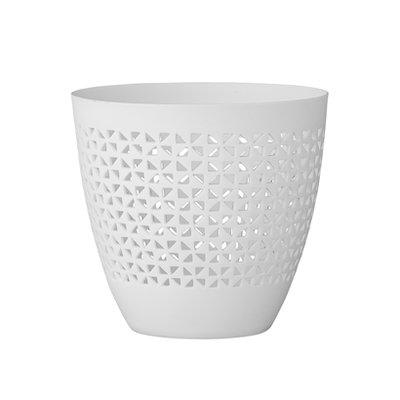 Bloomingville - Teelichthalter Porzellan Weiß B