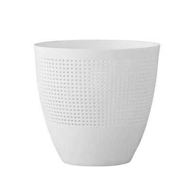 Bloomingville - Teelichthalter Porzellan Weiß C