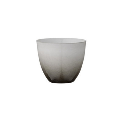 Bloomingville - Teelichthalter Weiß mit schwarz