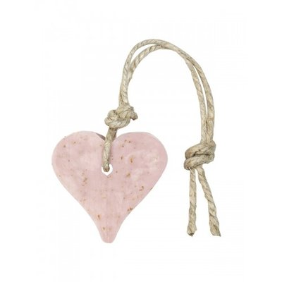 Mijn Stijl - Seife Herz Altes rosa mit Kleie & Duft Rose