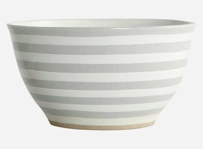 House Doctor - Bowl Stripe stone